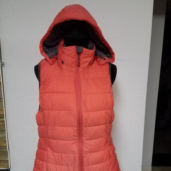 Tangerine Jackets & Blazers - Fall/Winter Vest w/zippered hood